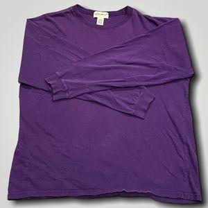 Eddie Bauer Long Sleeve Shirt Purple (Size L)